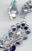 SALE Cobalt Blue stunning Brooch and earrings