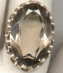 SALE 18 kt  Rose gold Smokey  Topaz  Vintage