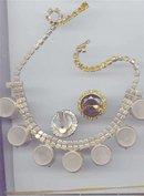 SALE Gigantic Rhinestone Vintage Necklace and