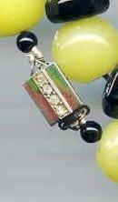 SALE Wonderful Black onyx and Peking Glass