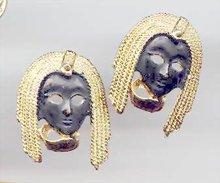 SALE Black Face  Earrings