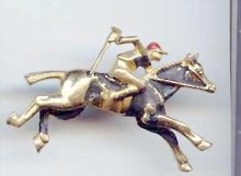 Jockey on horse  Pin