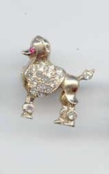 SALE Cool Poodle Pin tiny