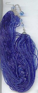 SALE Cobalt Blue Glass Necklace