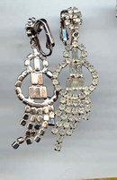 SALE Elegant Long Rhinestone Earrings for the