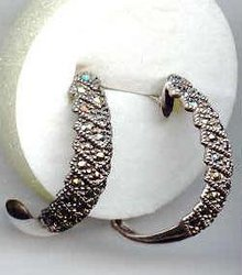 SALE Sterling Sliver and Marcasite  Earrings