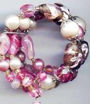 SALE All Glass Bracelet