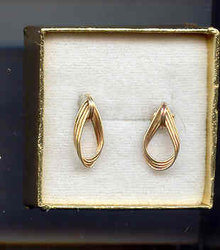 SALE 14Kt  gold  earrings