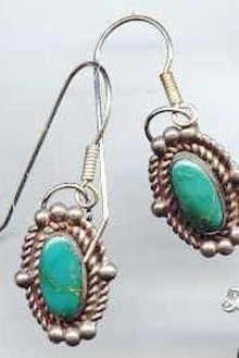 SALE Navajo Sterling Turquoise earrings