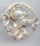 SALE Art Deco style Sterling interesting Pin