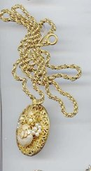 SALE MIRIAM HASKELL RARE Locket and chain