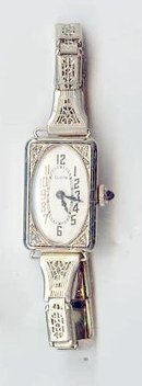 14kt white Gold Watch / Diamonds Dated May1916