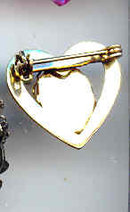 SALE Heart Pin with a Cameo