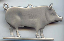 SALE Large Pig   Pewter