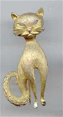 SALE Sleek Cat Pin signed BSK