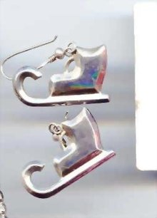 SALE Ski Boots Sterling Earrings