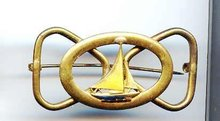 SALE Vintage Brass Sailing Pin