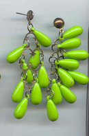 SALE Funky Drop Mint green dangle Earrings