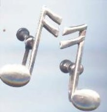 SALE Musical Earrings sterling