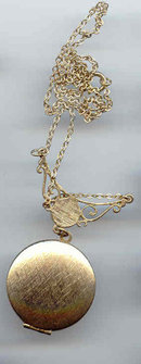 SALE Locket and Necklace