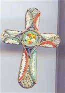 SALE mosaic Cross made in Italy