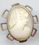 SALE Shell Cameo Pin