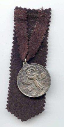 SALE Metal    St Frances  dated   1830