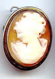 SALE Shell Cameo in Sterling Silver