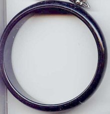 SALE Black Bakelite Bangle