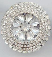 SALE Round Rhinestone Pin with Class