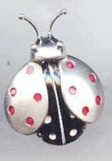 SALE Beau Sterling Bug Pin   Rare