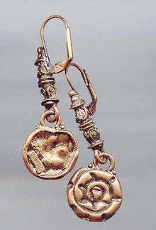 SALE Copper tone Drop Earrings