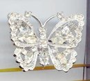 SALE Rhinestone Butterfly Pin