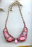 SALE Love Pink  Rhinestone  Necklace
