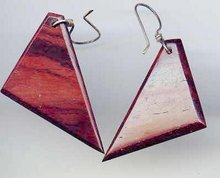 SALE Retro Wood Earrings