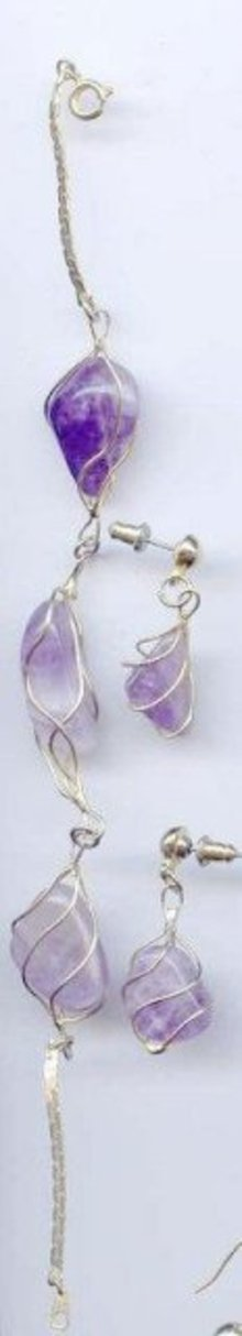 SALE Amethyst Bracelet and Earrings