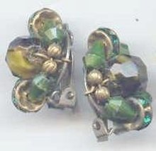 SALE Emerald Color Earring