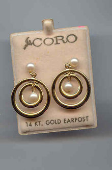 SALE Costume Earrings coro