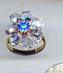 SALE Blue Crystal ring