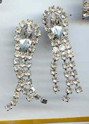 SALE Long Rhinestone Earrings  Wow