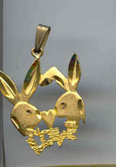 SALE Playboy Bunnies in love Pendant