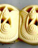 SALE Art Deco Style Cream Bracelet