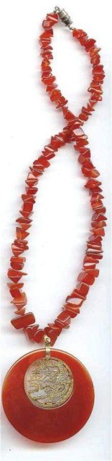 SALE Carnelian Stone Necklace
