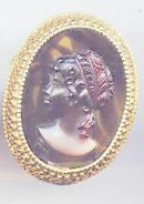 SALE Cameo Pin signed Florenza