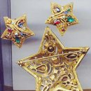SALE Fabulous Star Rhinestone  Pin-Pendant and