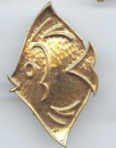 SALE Gold tone  Fish Pin