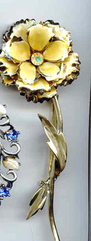 SALE Coro Flower Pin  Long
