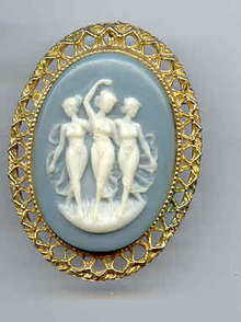 SALE Three Girls Cameo Pin