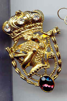 SALE Knight Pin with Stone