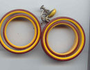 SALE Large Bakelite Earrings.